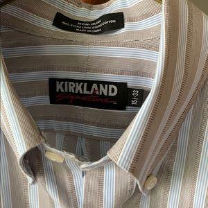 Kirkland Signature Dress Shirt Button Down Collar